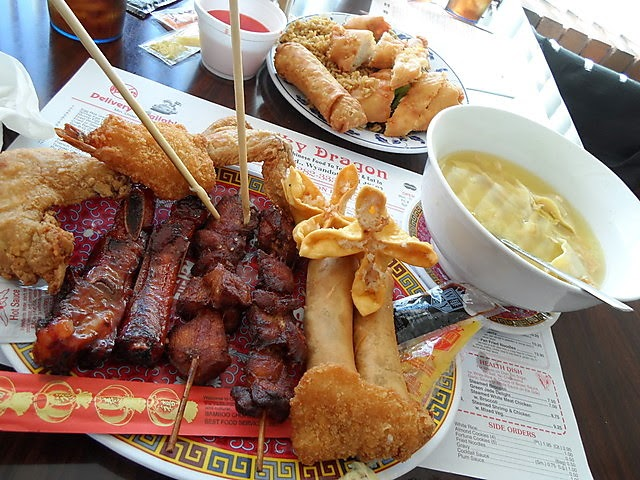 You Hate Name Pu Pu Platter You LOVE da FOOD | Poe's Pig Out