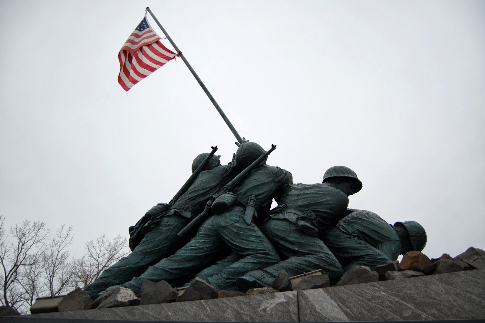 National Iwo Jima Memorial, CT - side view