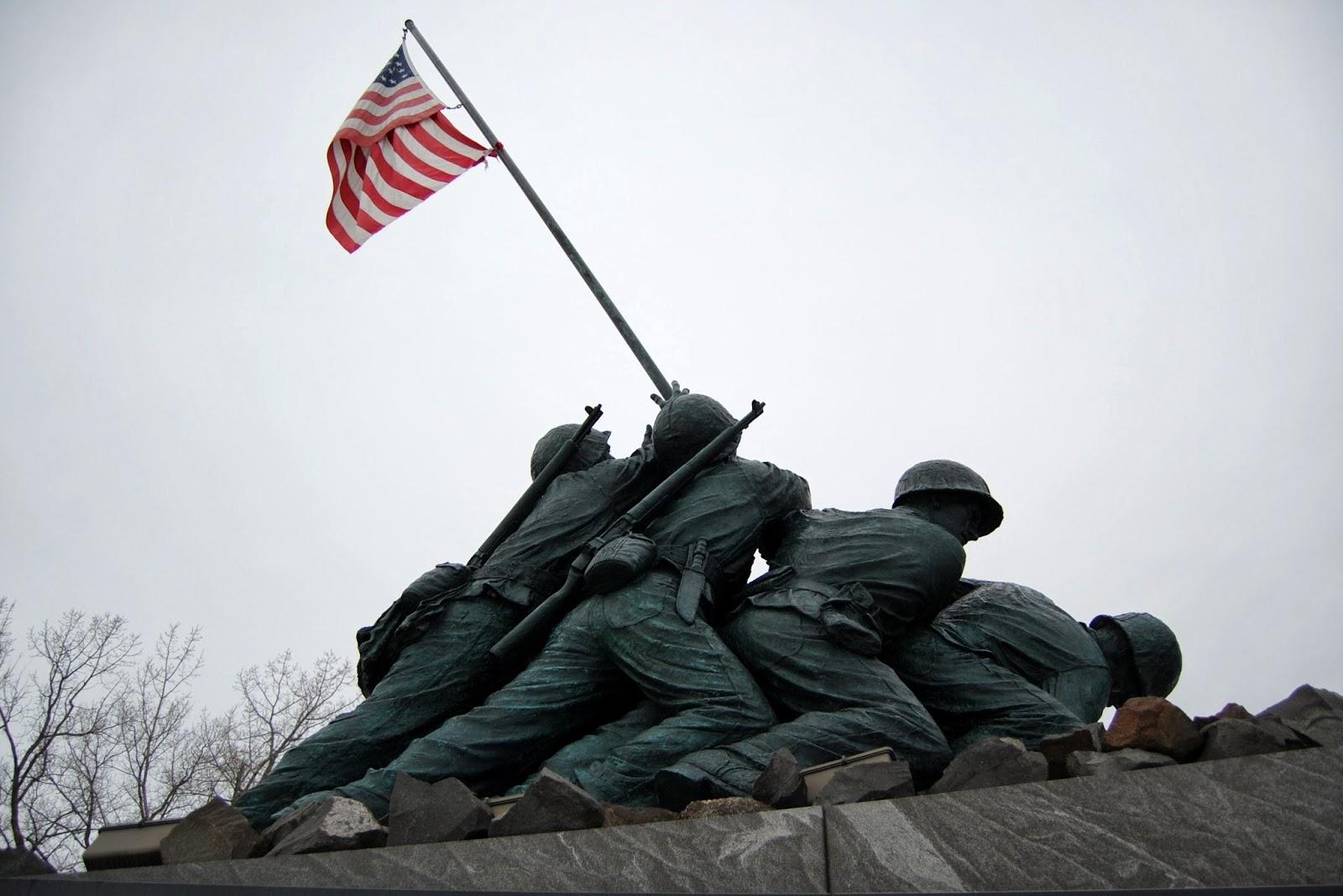 National Iwo Jima Memorial, CT - side view