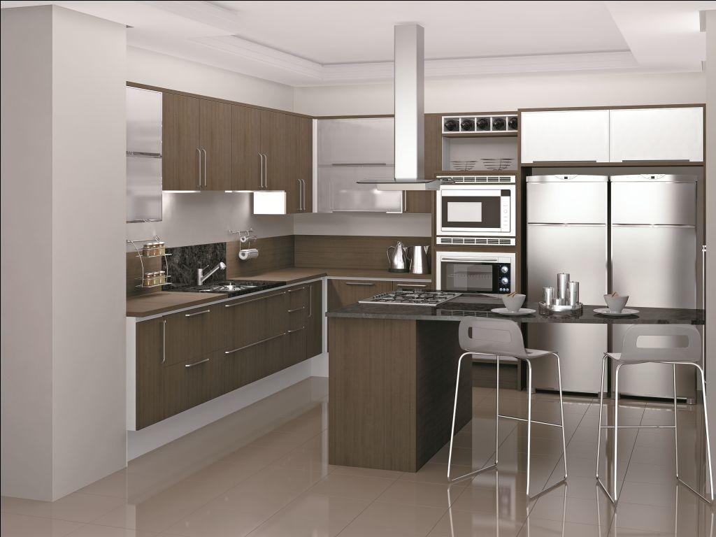 Cozinha Com Forno E Microondas Embutido Miniforno Becken L Bmo B