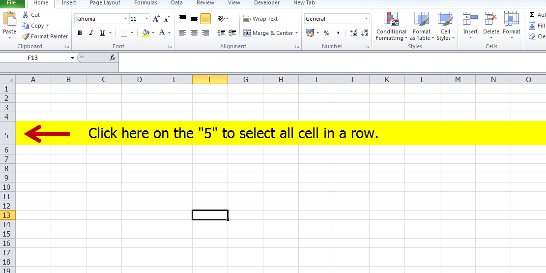how to delete an entire row in excel