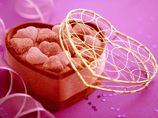 Happy valentines day sweets purple wallpaper