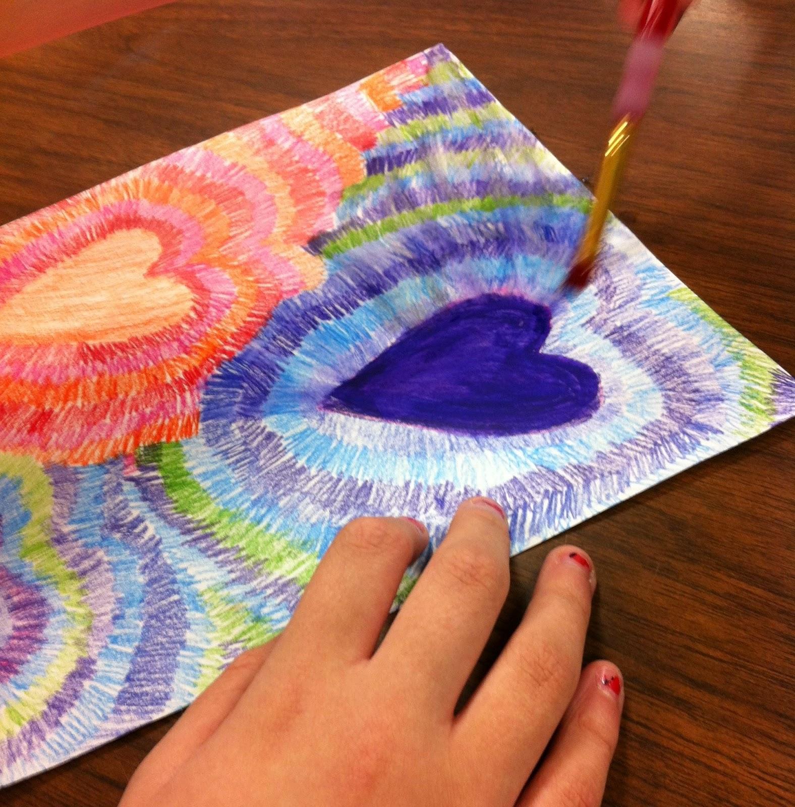 Yankeetown art viva valentine for 4th grade craft projects