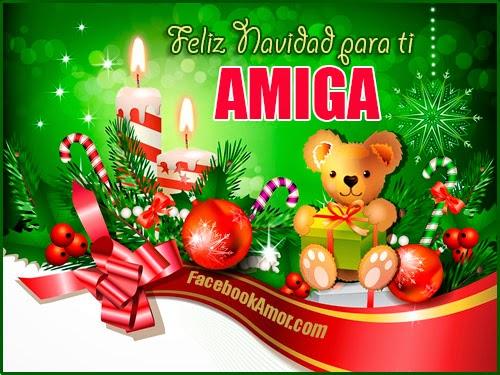 feliz navidad para amiga