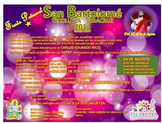 Feria Tecolutla 2014 programa