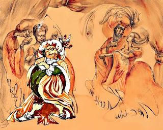 Иллюстрация к пьесе Мещанин во дворянстве