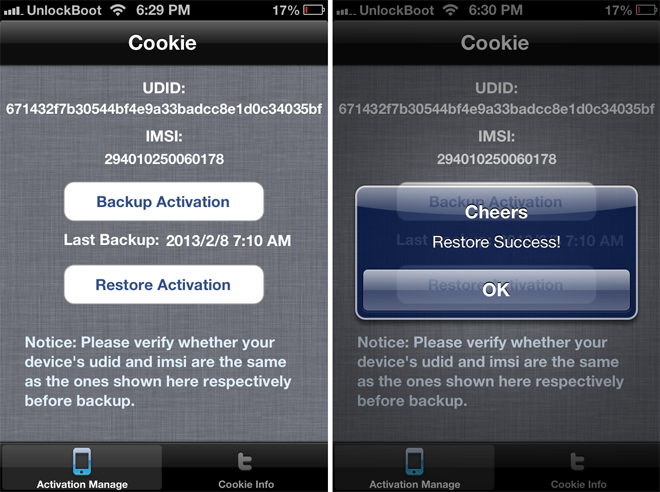 Restore SAM Tickets iOS 6.1