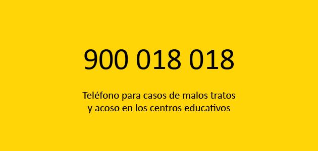 Teléfono contra el acoso escolar