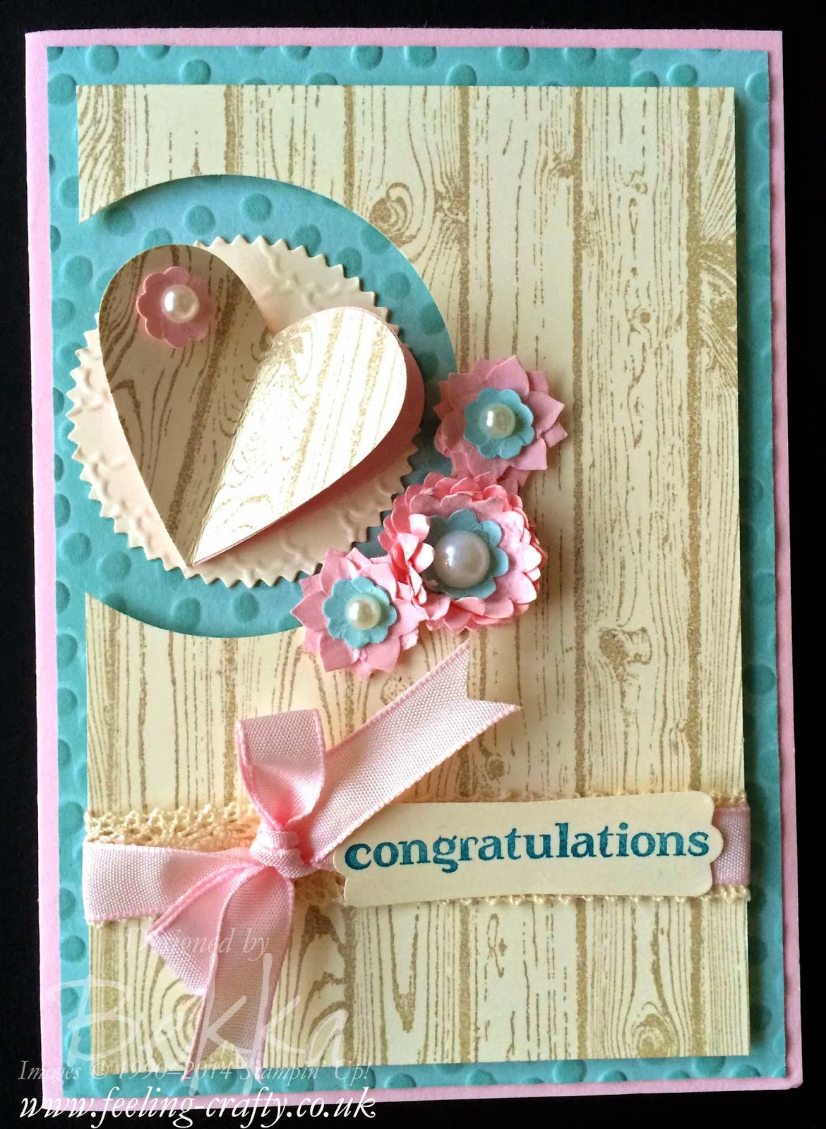 Engagement Congratulations Card made with Stampin' Up! Supplies - find out more here