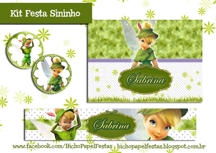 Kit Festa Sininho Tinker Bell