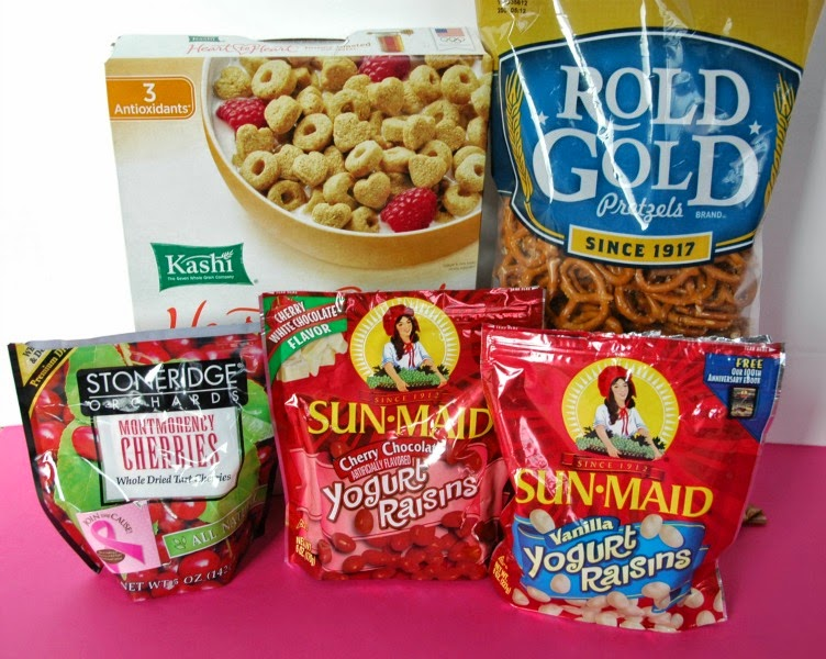 Valentine Snack Mix Ingredients