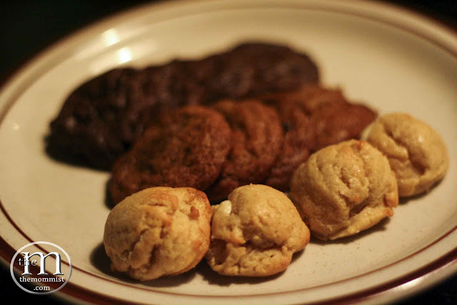 Freshly baked assorted cookies on a plate