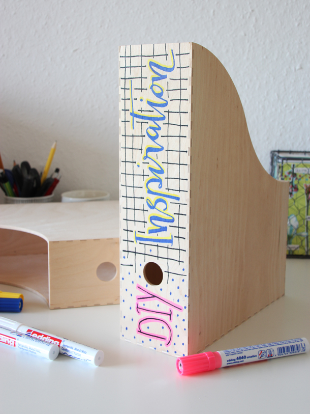 Dekorieren Stiftebox aus Holz zum Selbstgestalten diverse Ausführungen