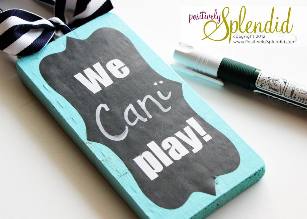 Chalkboard Playtime Door Hanger - Positively Splendid {Crafts ...