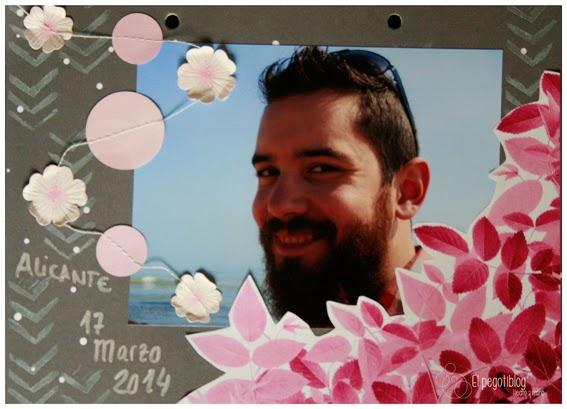 Reto scrapbooking - Flores - el pegotiblog
