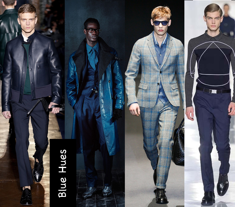 mens fall 2013 blue colored outfits