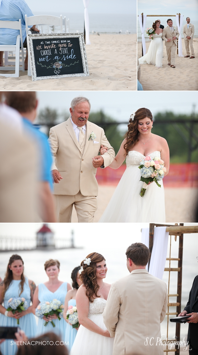 beach wedding tiscornia park saint joseph michigan wedding photographer bare foot wedding