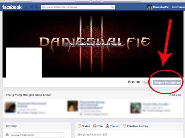 cara membuat gambar kronologi keren dengan nama sendiri di facebook