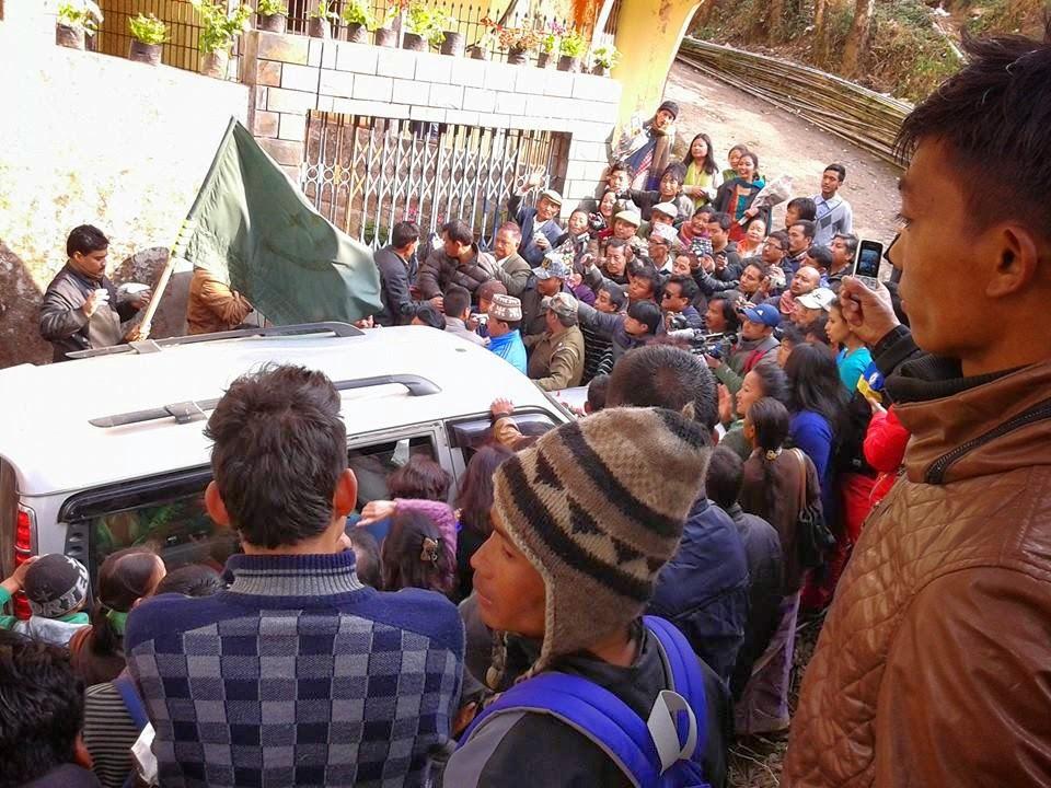 Ghishing has just reached his residence in Darjeeling