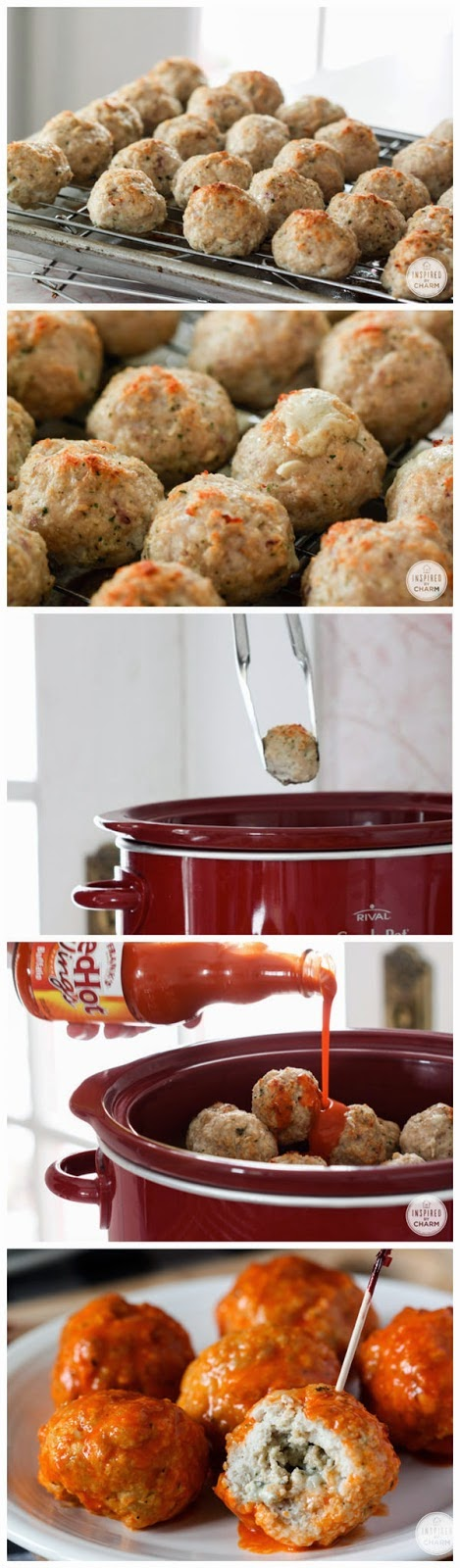 Blue Cheese Stuffed Buffalo Chicken Meatballs