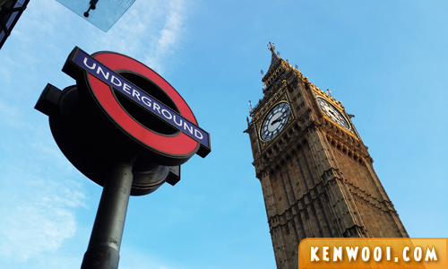 london underground big ben