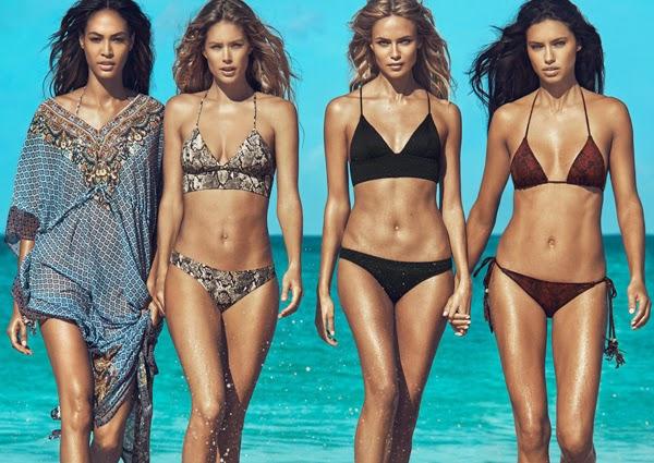 Cartán y bikiinis con braguitas top triangulo H&M moda mujer y trajes de baño verano 2015
