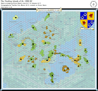 Hex Map of Bruce Heard's Alphatia: Floating Ar, 8 miles per hex, Mystara