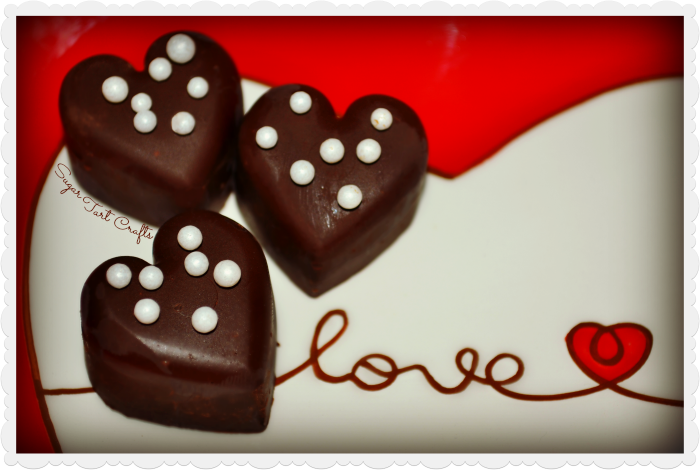 How to make simple heart-shaped chocolate truffles!