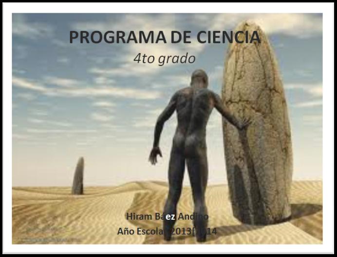 Programa de Ciencia 4to grado