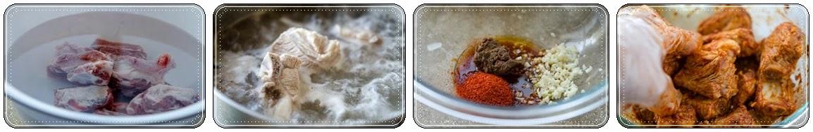 Cách nấu canh Sườn non Kim chi ngon 1