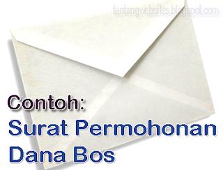 surat permohonan Dana Bos