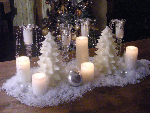 Christmas Winter Table Centerpiece Ideas