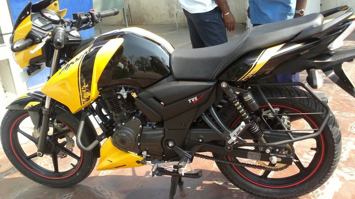 2012 Tvs Apache Rtr 160 First Ever Photos Bike Chronicles Of India