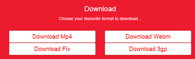Yclip download format selector