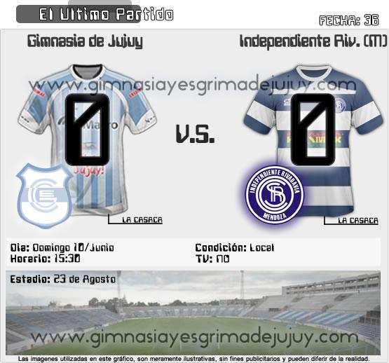 Fecha 36: Gimnasia de Jujuy vs Independiente Rivadavia mendoza