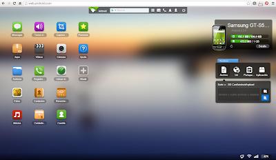 Pantalla navegador AirDroid 2