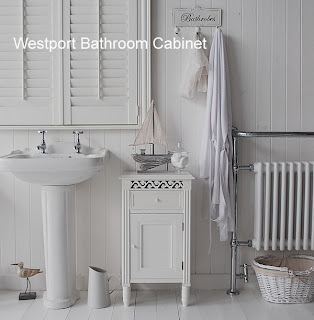 White Free Standing Bathroom Cabinet