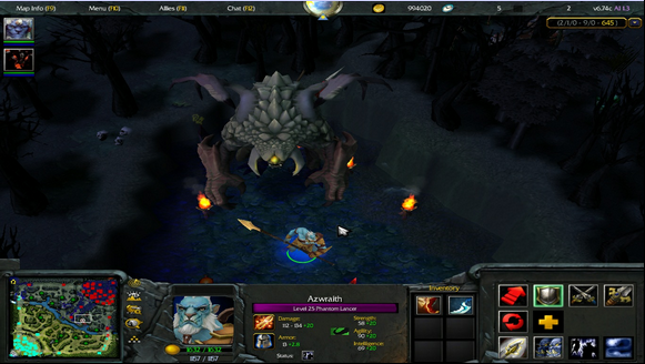 Roshan in WarDota2