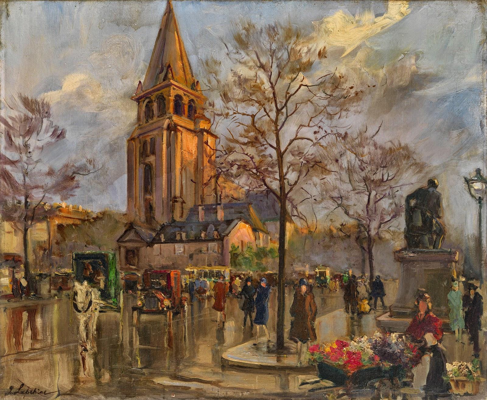 GEORGES  LAPCHINE  ( )  Place  Saint Germain des Pr C As