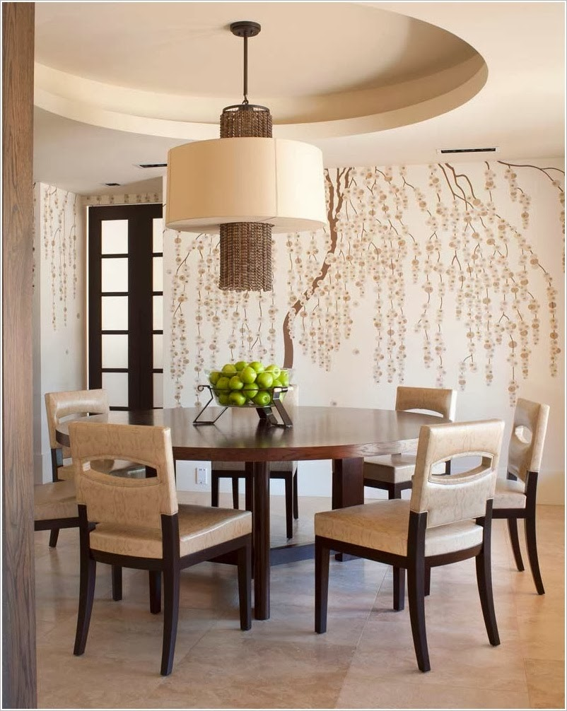 D coration salon avec des fleurs de cerise d coration - Deco mural salon ...