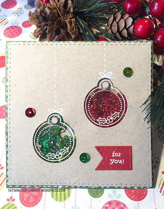 Tag shaker card by Tatiana | Jolly Tags Stamp and Die Set by Newton's Nook Designs #newtonsnook