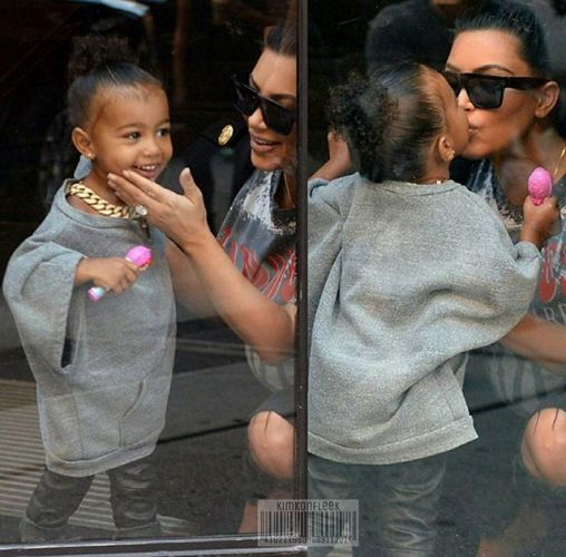 North West dresses up like dad Kanye West in oversized top and chain!