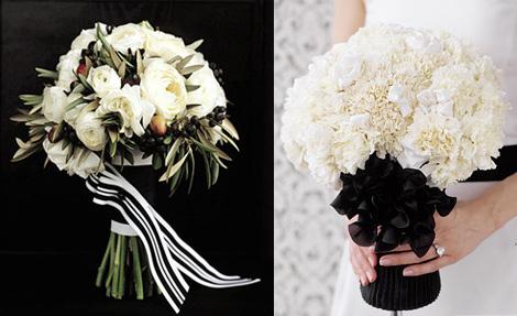 savoy the socialite black white flower bouquets. Black Bedroom Furniture Sets. Home Design Ideas