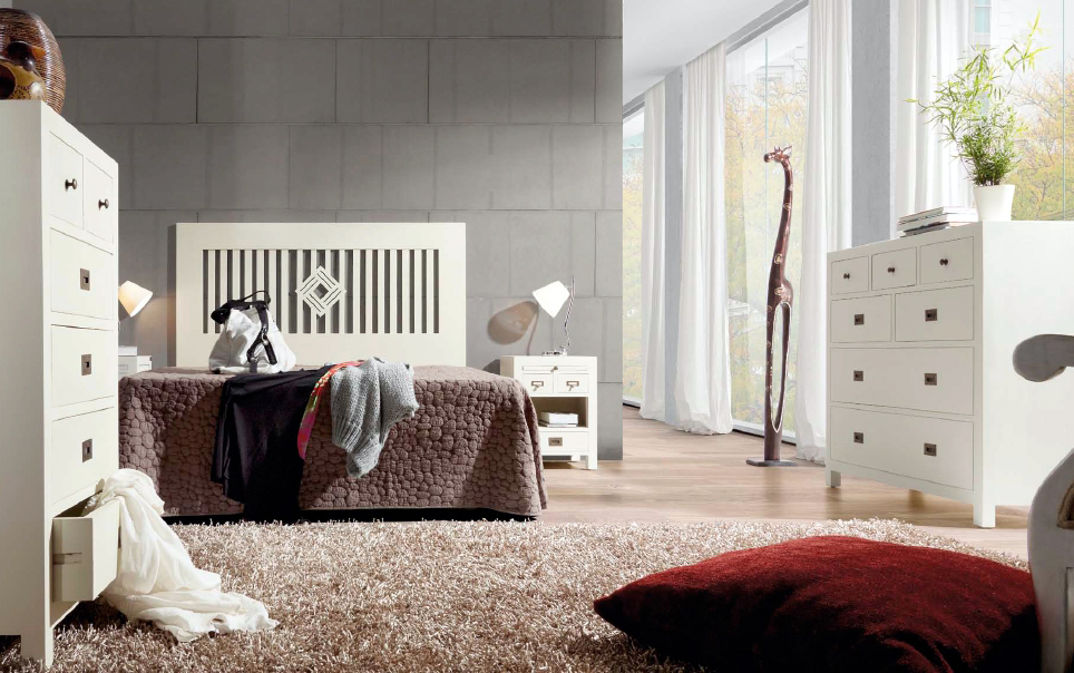 Muebles de Dormitorio DORMITORIOS EN COLOR BLANCO