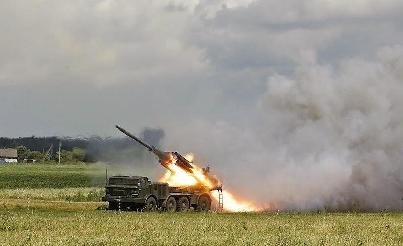 """У Донбасі у терористів на озброєнні з'явилися потужні системи залпового вогню """"Ураган"""""""