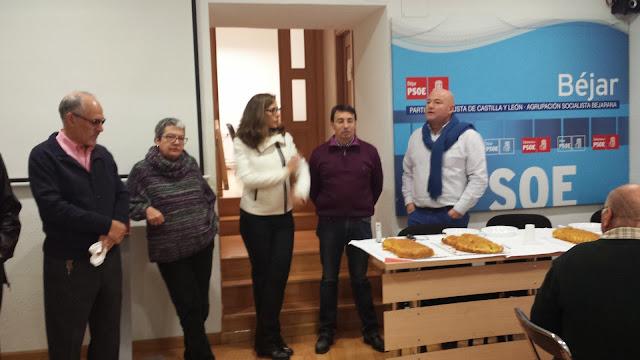 celebracion en la sede del PSOE de Béjar