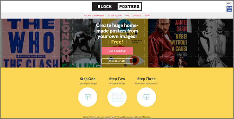 make your own posters at home for free block posters