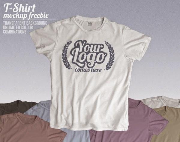 Download T-Shirt Mockup Terbaru Gratis - FREEBIE CLOUDS T-SHIRT MOCKUP