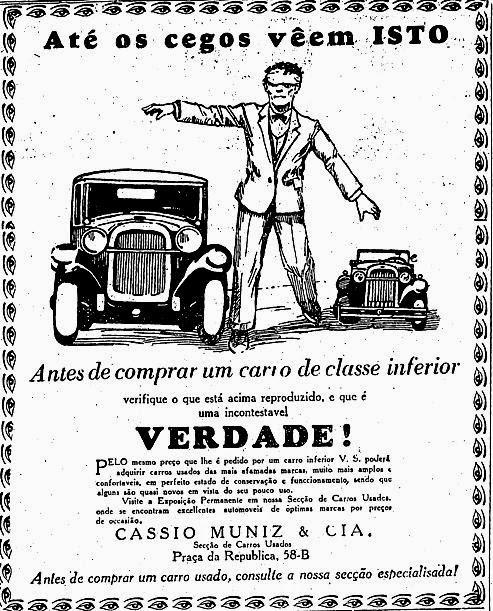 Da série anúncios incorretos: concessionária apelava ao oferecer uma alternativa aos 'carros de classe inferior'