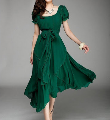 green jade dress